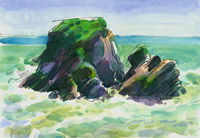Cape Foulwind, New Zealand, watercolour
