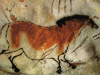 Cave painting in Lascaux, France