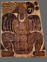 Painting on board from Papua New Guinea