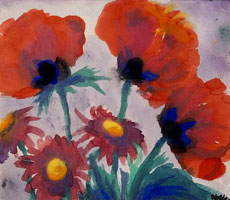 Emil Nolde: Poppies, Germany 1930
